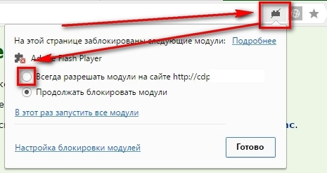 Включить Flash Player